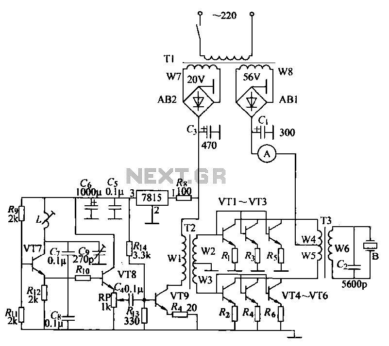 ultrasonic circuit : Audio Circuits :: Next.gr