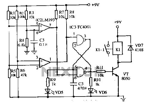 liquid sensor Circuit Page 2 : Sensors Detectors Circuits