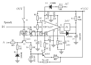 uPC1237 speaker protection schematic under Other Circuits 57433 : Nextgr