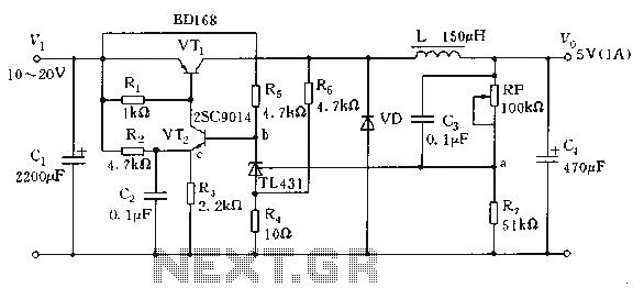 voltage inverter using switch mode regulator