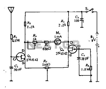 Radiation Detector Circuit Diagram, Radiation, Free Engine