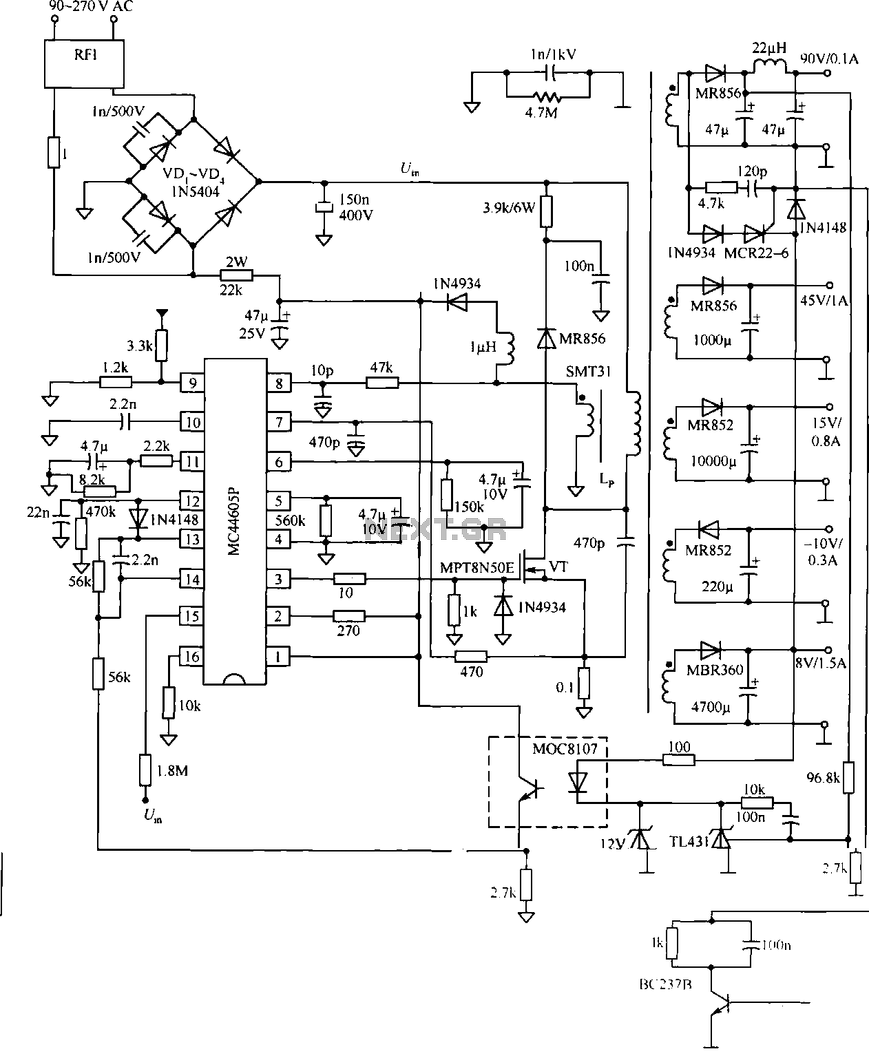 Uninterrupted Power Supply Circuit Diagram Power Supply