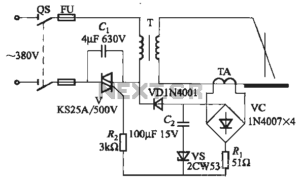 SCR AC arc welding machine load path from one power outage
