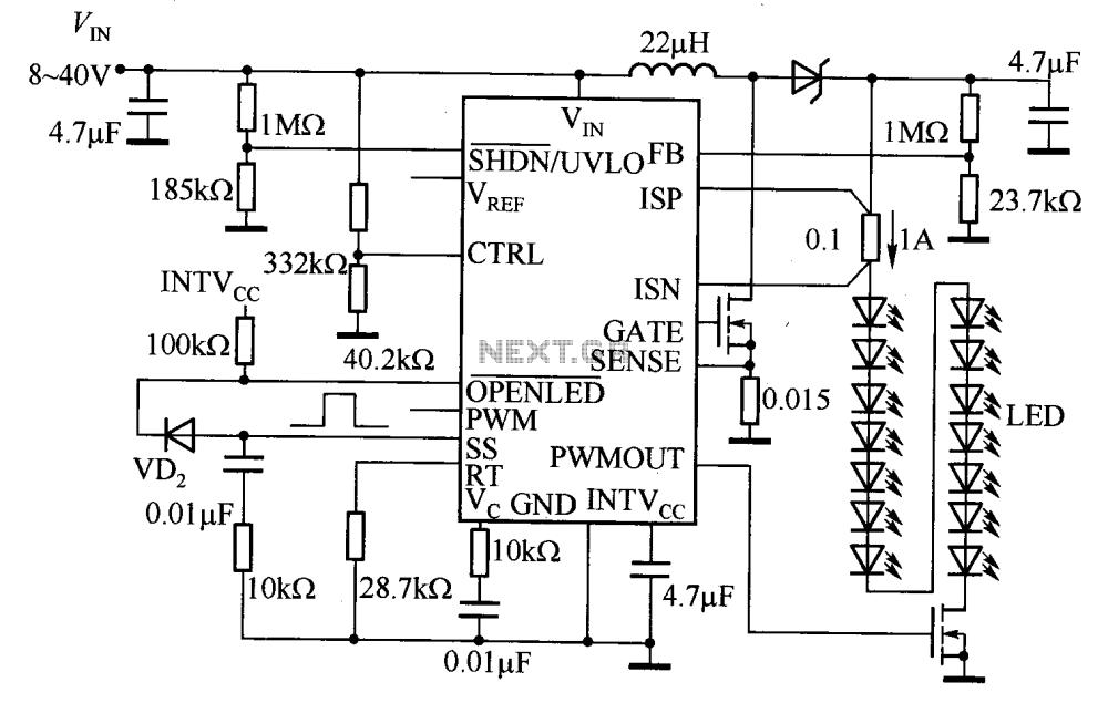 medium resolution of 50w white led automotive headlamp drivercircuit diagram world led circuit page 2 light laser led circuits