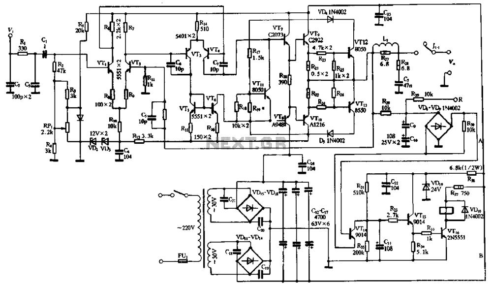 medium resolution of 2sc2922 and 2sa1216 or 2sc3264 and 2sa1295 power amplifier circuit