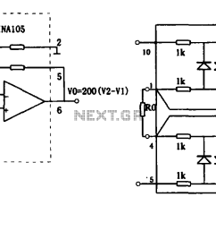 extended common mode range of the instrumentation amplifier ina101 circuit [ 1789 x 692 Pixel ]