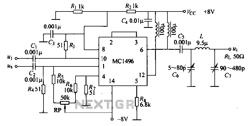 lock in amplifier used a mc1496 analogcircuit
