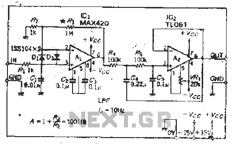 Stable amplification 1001 times chopper amplifier under