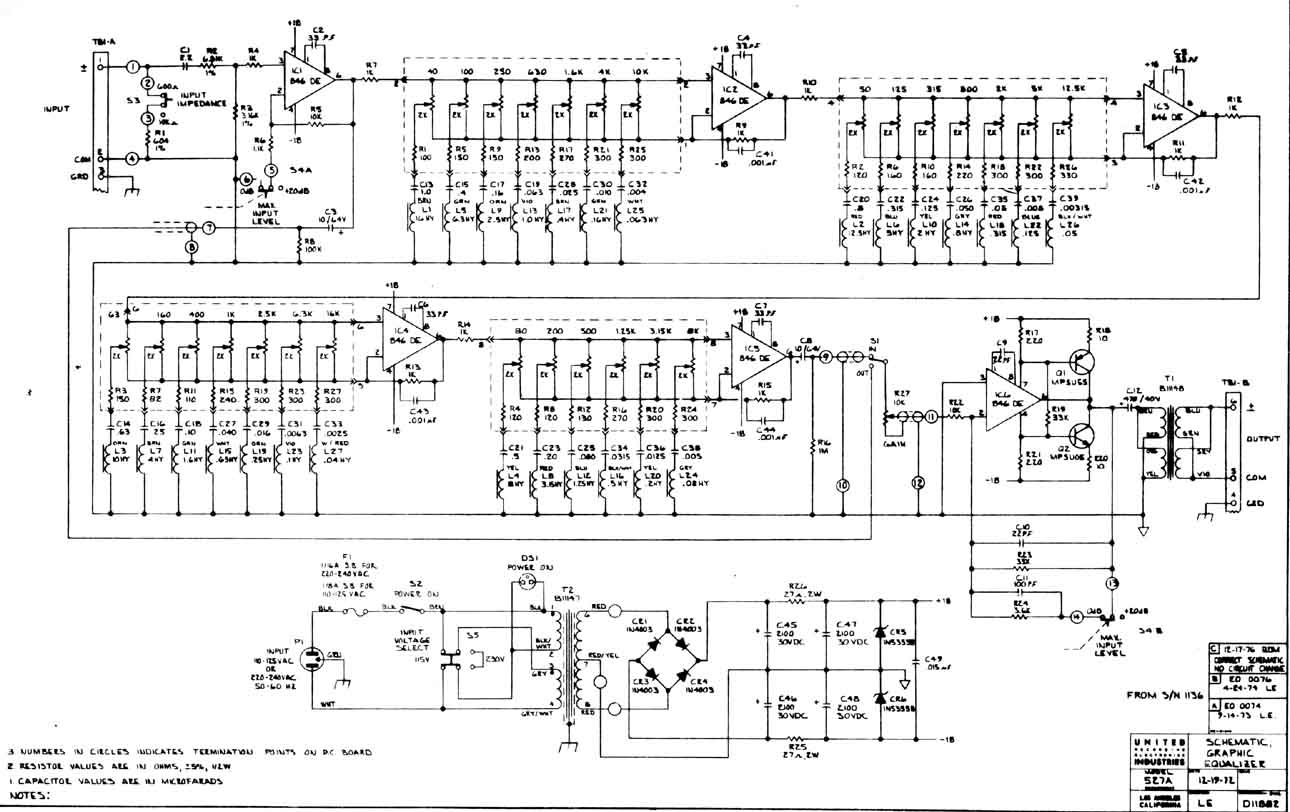 hight resolution of graphic equaliser 527