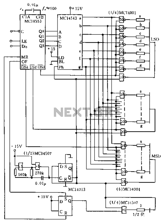 lcd led display circuit : Digital Circuits :: Next.gr