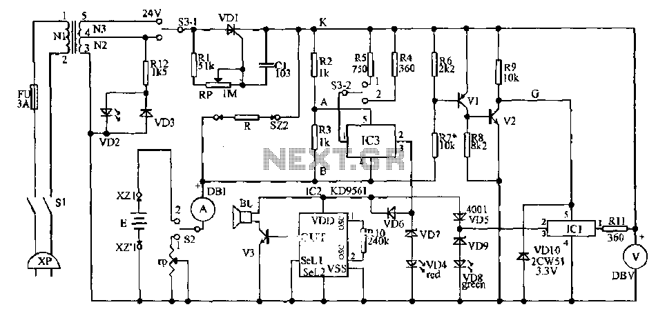 > circuits > Schematic diagram of a USB player Schematic