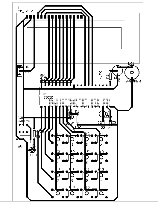 > other circuits > Simple calculator schematic l58510