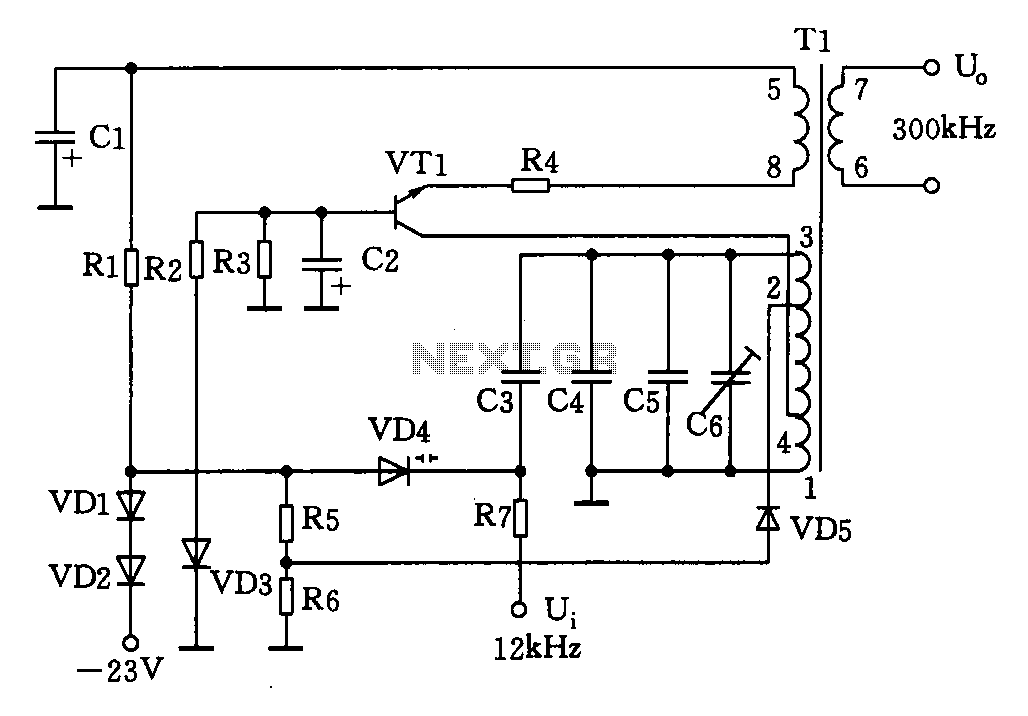 > other circuits > 300kHz signal generator circuit l58587