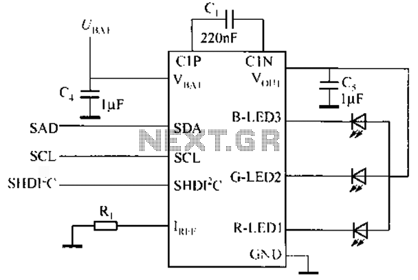 I2C control interface includes RGB LED Driver circuit