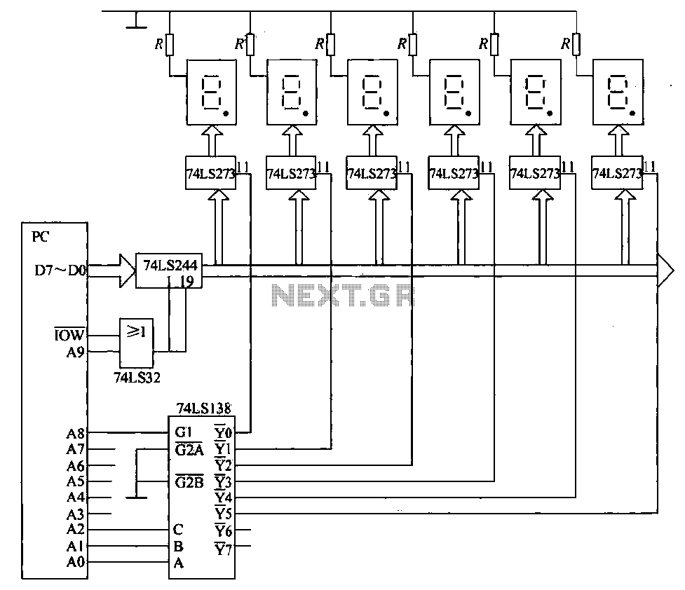 hight resolution of 6 static display circuit