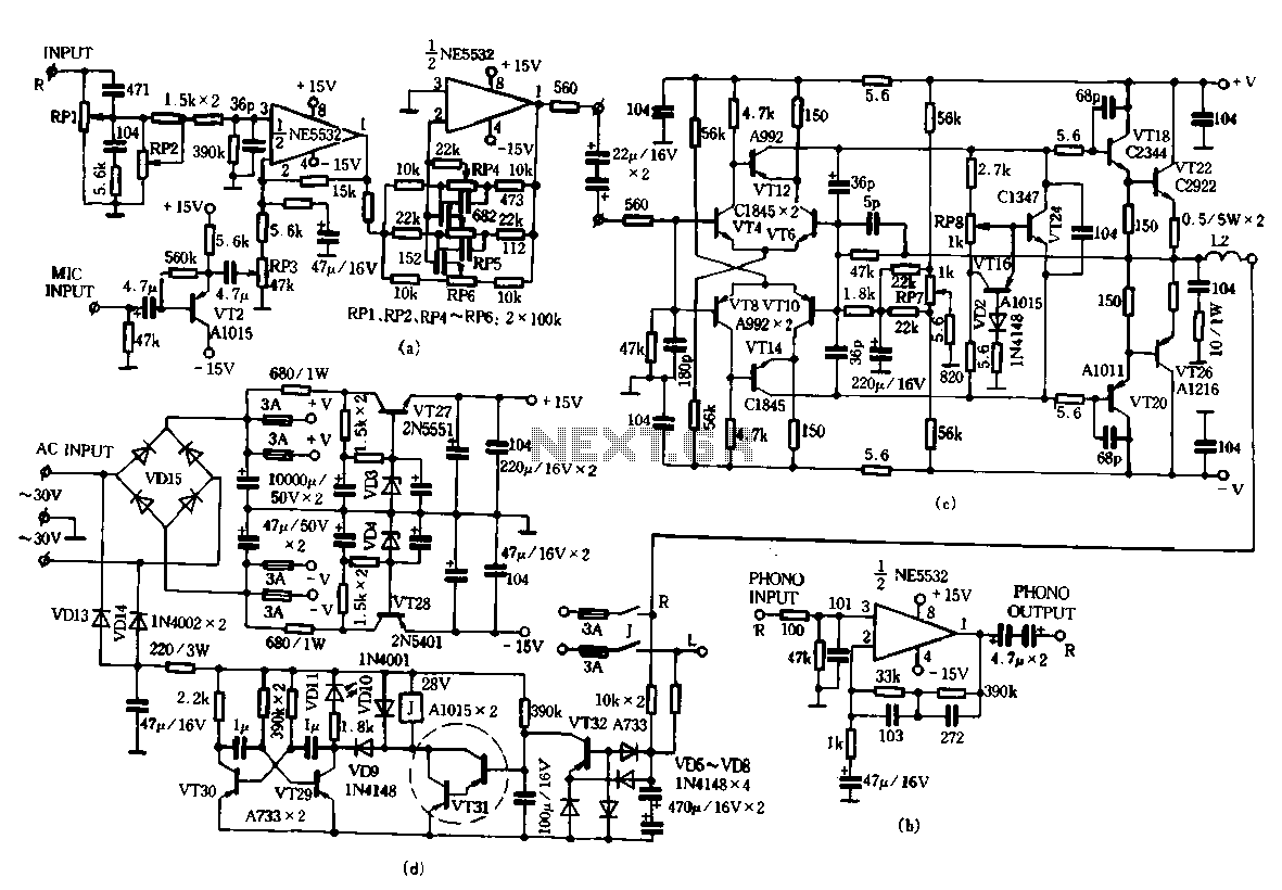 fig class c power amplifier circuit in the above schematic