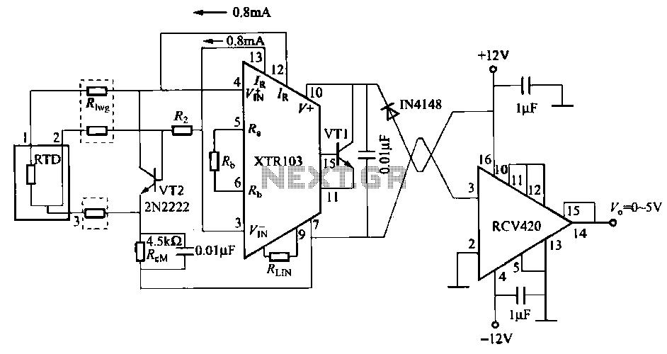 simple isolated temperature sensing circuit