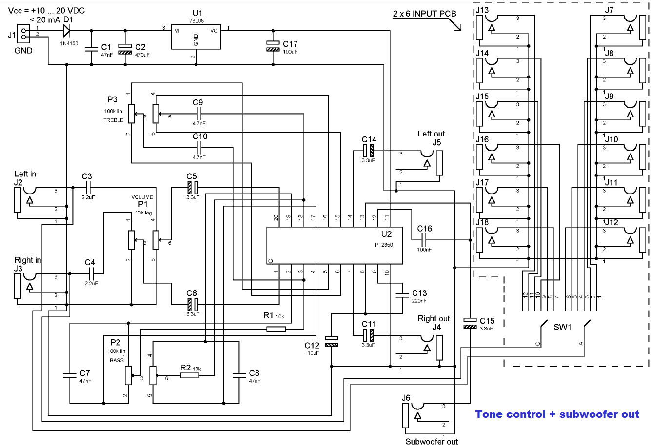 Audio Tone Balance Circuit Page 3 Audio Circuits Next