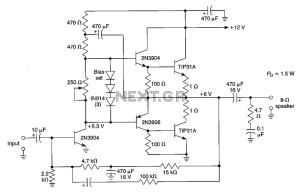 15 12W audio amplifier circuit diagram under Audio