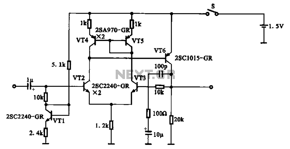 Dynamic Microphone Diagram Preamplifier For Dynamic