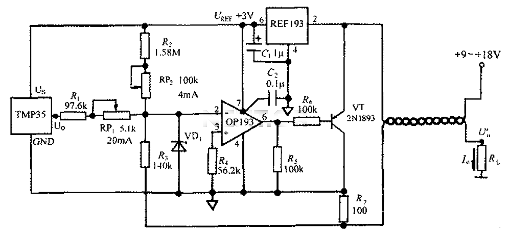 4 ~ 20mA transmitter circuit diagram TMP35 temperature