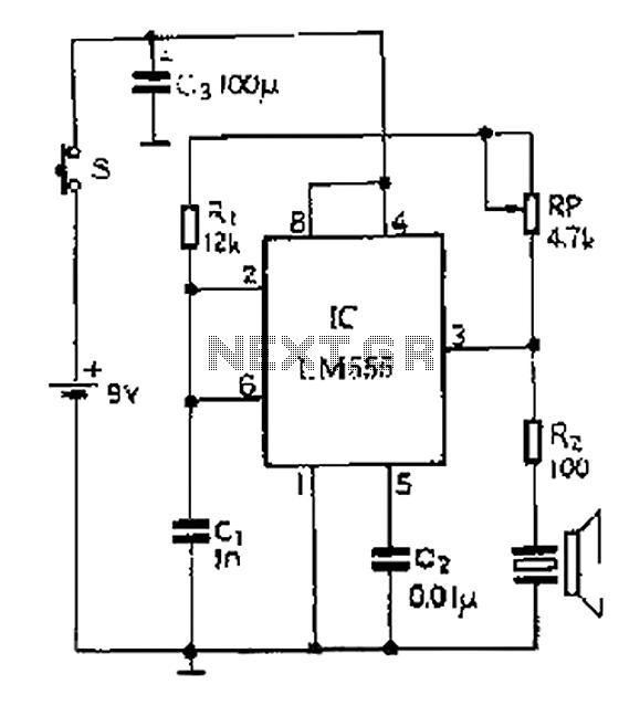 40kHZ ultrasonic transmitter circuit diagram under