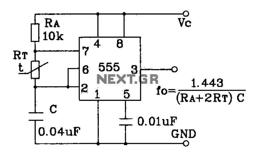 555 precision temperature sensor with temperature