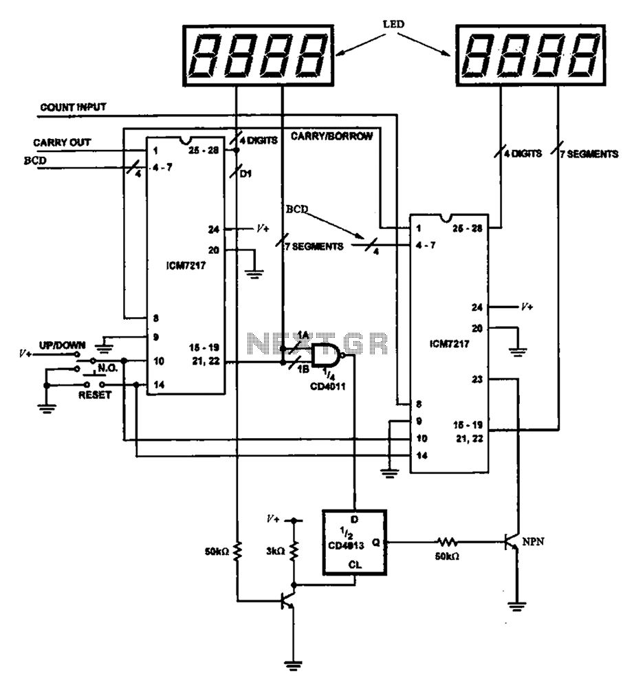 hight resolution of 8 bit digital counter circuit