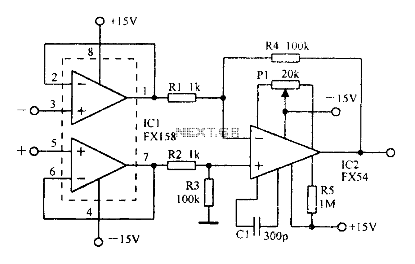 circuit diagram of non inverting amplifier mobile home intertherm electric furnace sequencer gt other circuits a differential having input