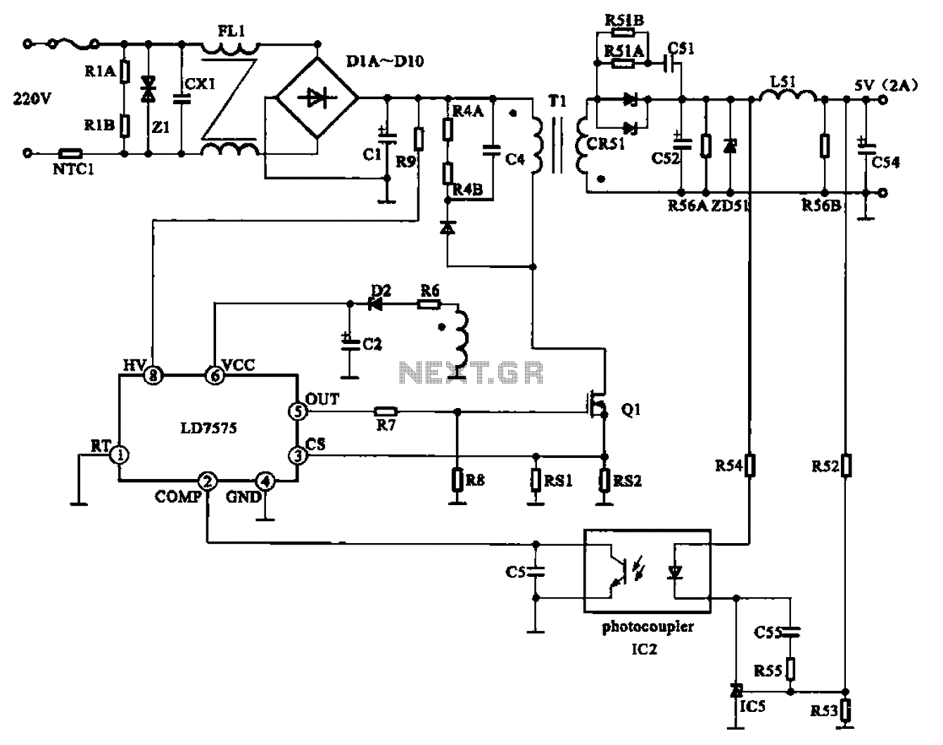 Schematic Ac Power Regenerator