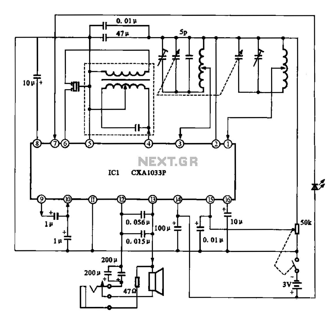 hight resolution of am radio circuit chip