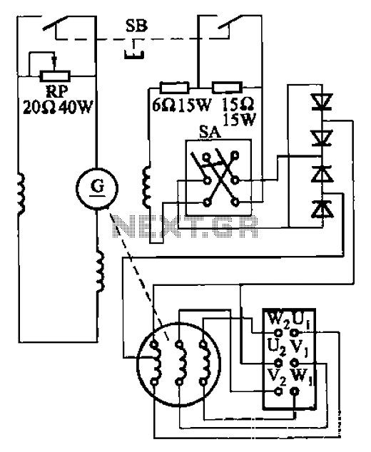 circuit diagram of dc arc welding machine