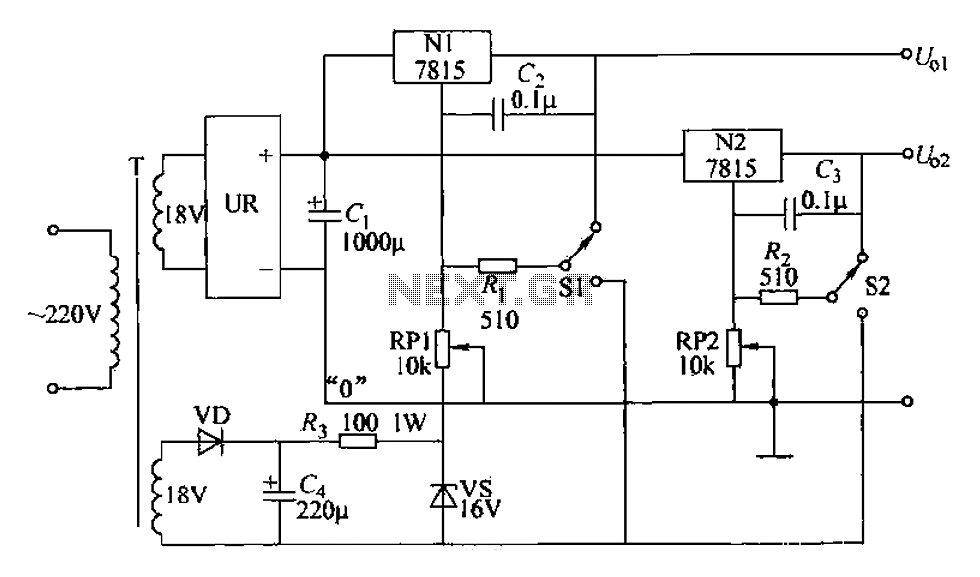 Adjustable dual voltage power supply circuit under Power
