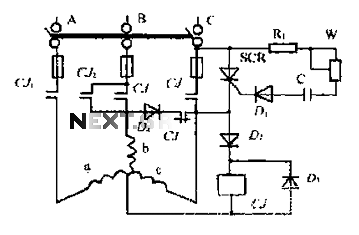 An induction motor dynamic braking control circuit under