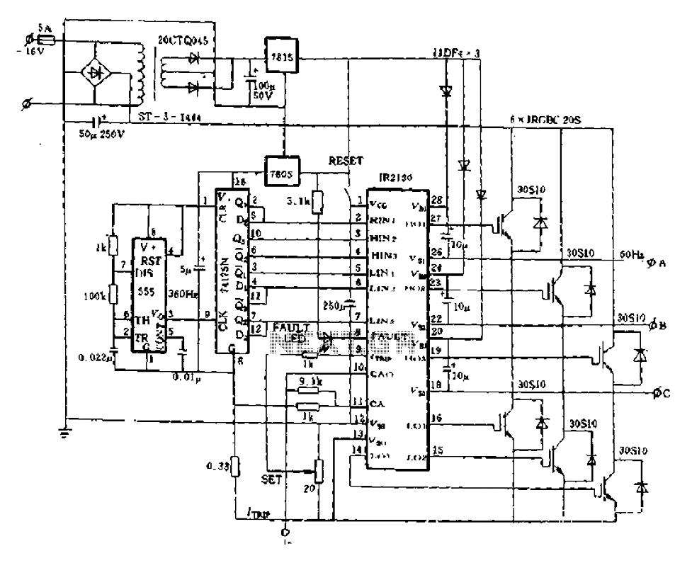 three phase ups wiring diagram