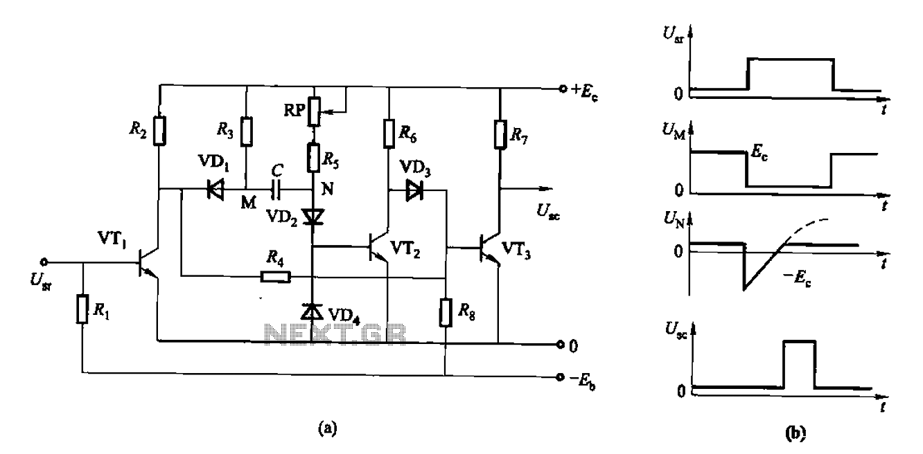 As control the discharge tube type delay circuit under