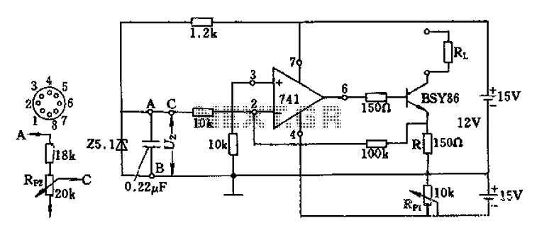 Current source circuit diagram of the operational