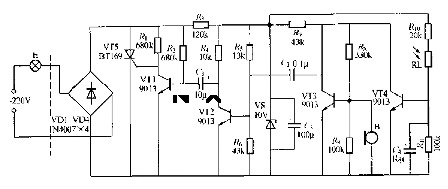 Automatic Staircase Light Circuit. automatic staircase