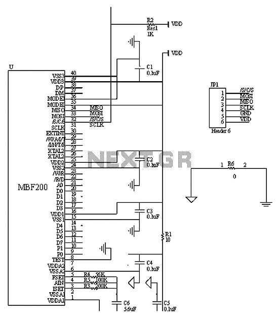 FPGA-based fingerprint identification system schematic