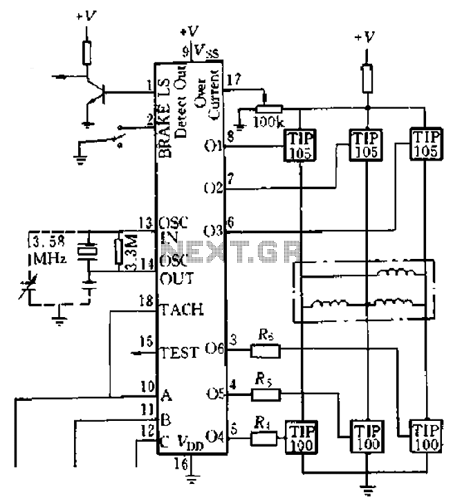 LS7263 Application Circuit Example under Other Circuits