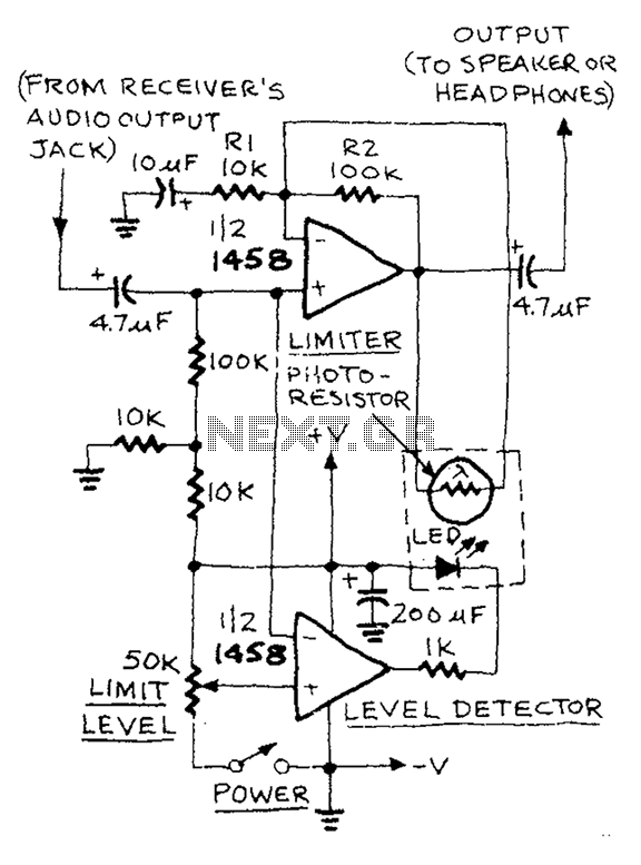 > audio > Low distortion audio limiter circuit diagram