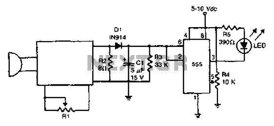Practical sound level monitor circuit diagram under Other