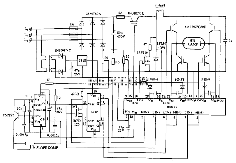 Schematic IR2130 for 1kw high pressure mercury lamp
