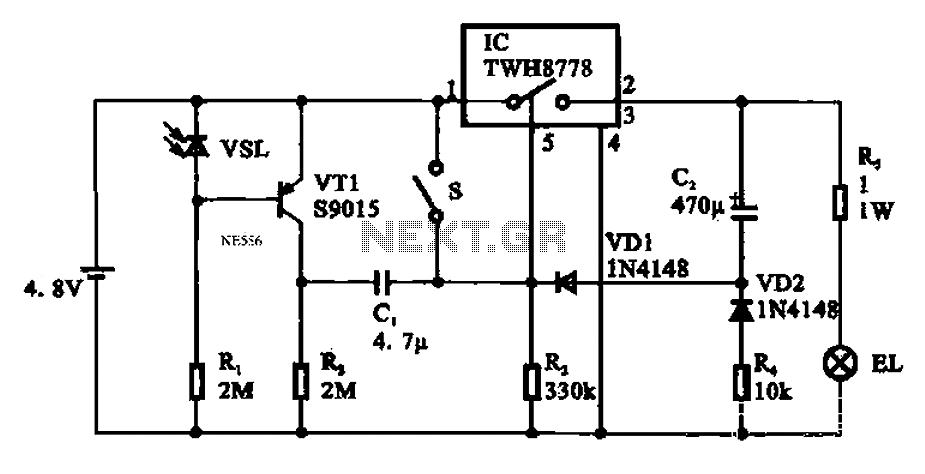 automatic emergency lamp circuit