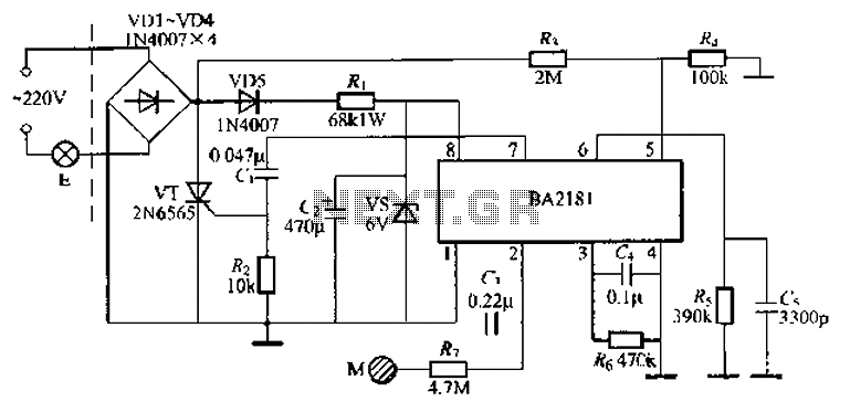 Touch Control Lamp Dimmer Ic
