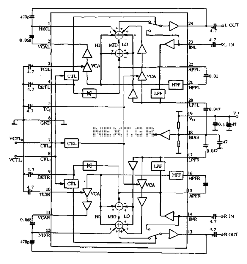 BA3884 application circuit within the circuit and a under