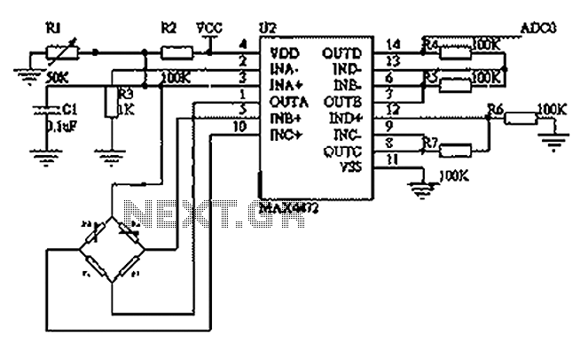 Blood pressure sensing circuit diagram BP01-type pressure