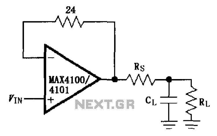 Capacitive load drive circuit diagram of the MAX4100 4101
