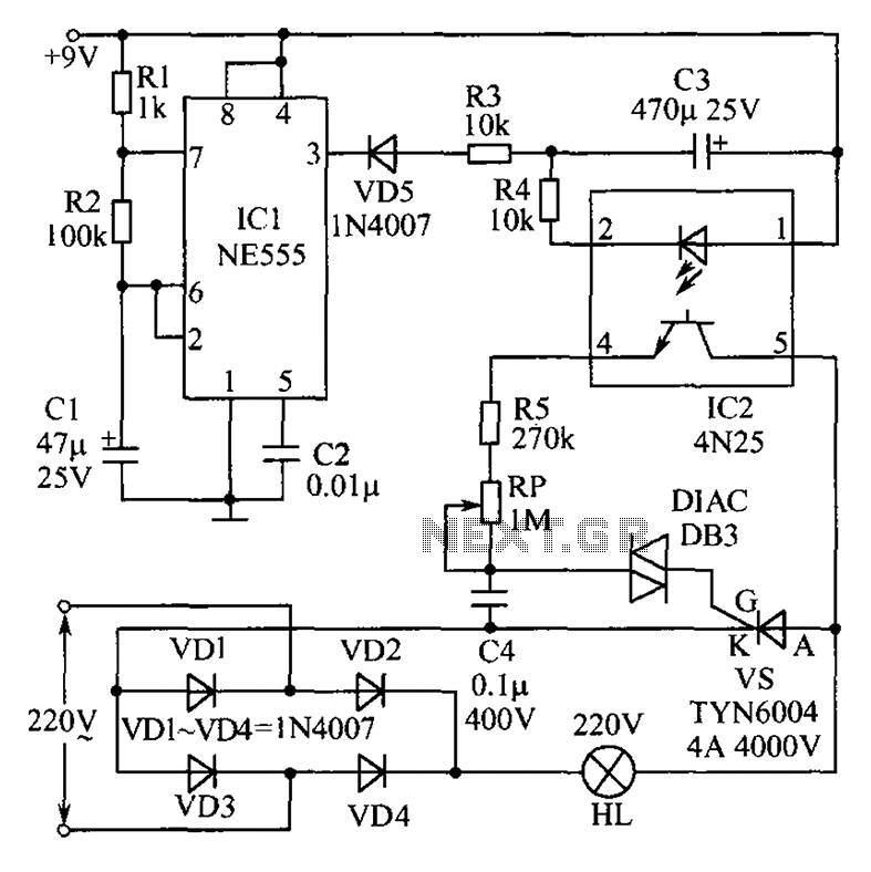 Christmas lights consisting of a circuit diagram of