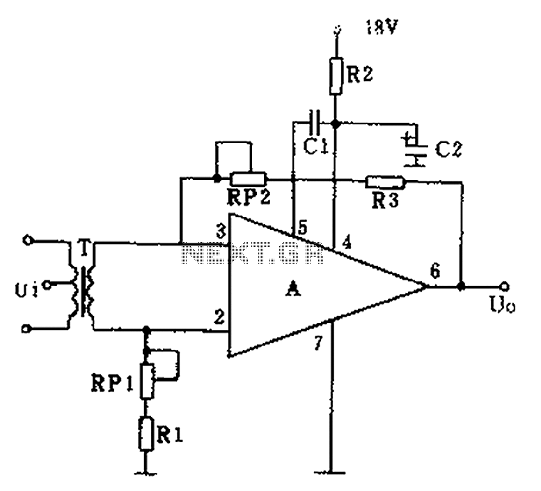 GF2A op amp audio amplifier circuit diagram under Audio
